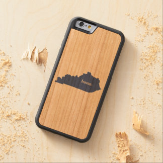 Kentucky home silhouette state map carved cherry iPhone 6 bumper case