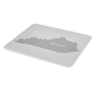 Kentucky home silhouette state map cutting board