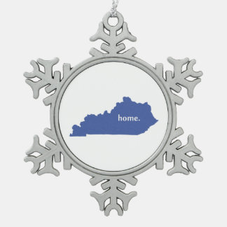 Kentucky home silhouette state map ornament