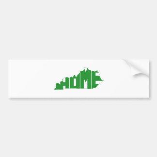 Kentucky Home State Bumper Sticker