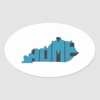 Kentucky Home State Oval Sticker