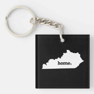 KENTUCKY HOME STATE -.png Single-Sided Square Acrylic Keychain