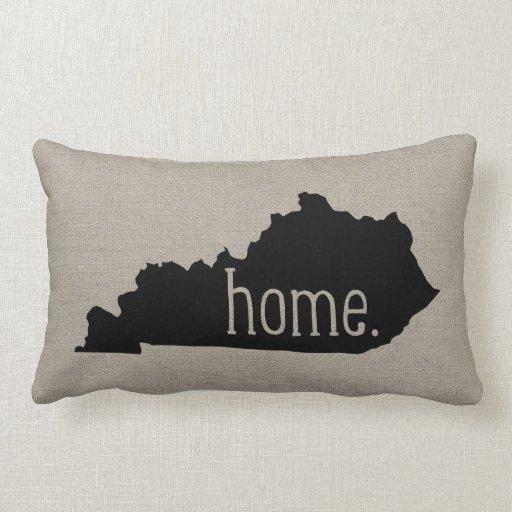 Throw Pillow That Says Home : Kentucky Home State Throw Pillow Zazzle