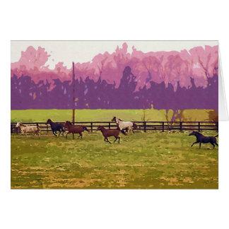 Kentucky Horse Farm 2 Greeting Card
