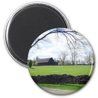 Kentucky Horse Farm 2 Inch Round Magnet