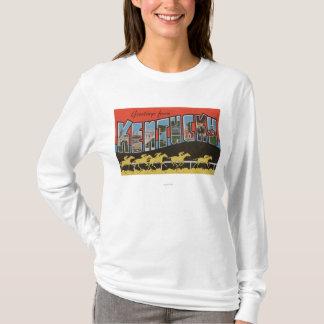 Kentucky (Horse Race Scene) - Large Letter Scene T-Shirt