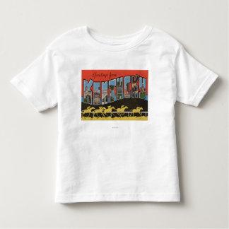 Kentucky (Horse Race Scene) - Large Letter Scene Toddler T-shirt
