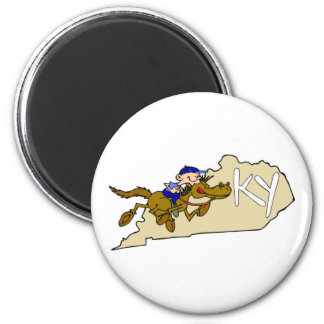 Kentucky Horse Racing 2 Inch Round Magnet