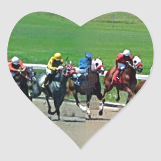 Kentucky Horse Racing Heart Sticker