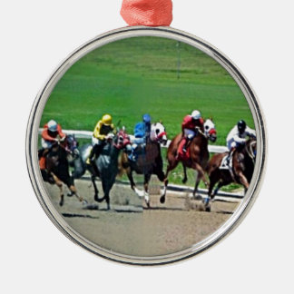 Kentucky Horse Racing Metal Ornament