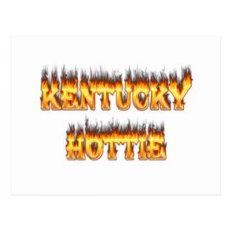 Kentucky hottie fire and flames postcard