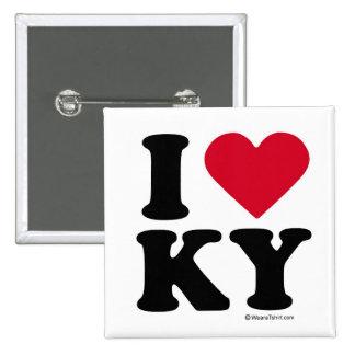 KENTUCKY - I LOVE KY - I LOVE KENTUCKY PINBACK BUTTON