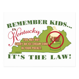 Kentucky Ice Cream Law Postcard