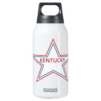 Kentucky in a star. insulated water bottle