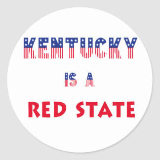 Kentucky is a Red State Classic Round Sticker