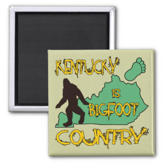 Kentucky Is Bigfoot Country 2 Inch Square Magnet