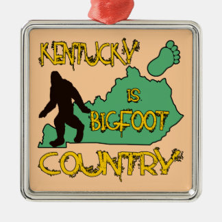 Kentucky Is Bigfoot Country Metal Ornament