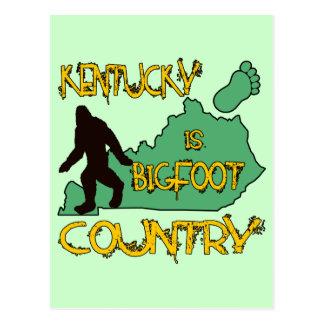 Kentucky Is Bigfoot Country Postcard