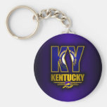 Kentucky (KY) Basic Round Button Keychain