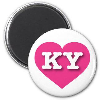 Kentucky KY hot pink heart Magnets
