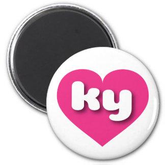 Kentucky ky hot pink heart magnet