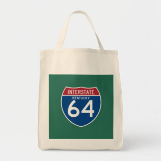 Kentucky KY I-64 Interstate Highway Shield - Tote Bag