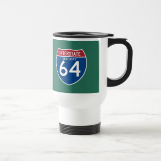 Kentucky KY I-64 Interstate Highway Shield - Travel Mug