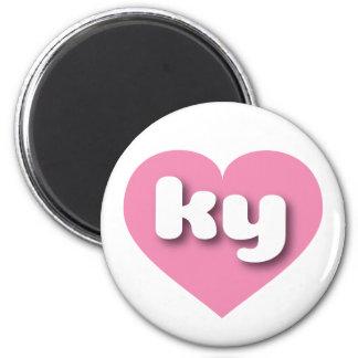 Kentucky ky pink heart refrigerator magnet