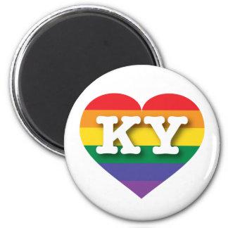 Kentucky KY rainbow pride heart Fridge Magnet