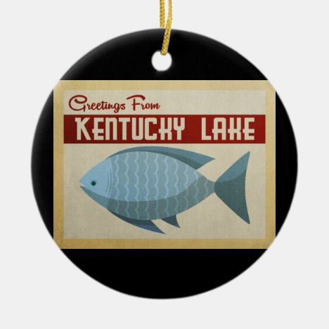 Kentucky Lake Fish Vintage Travel Ceramic Ornament