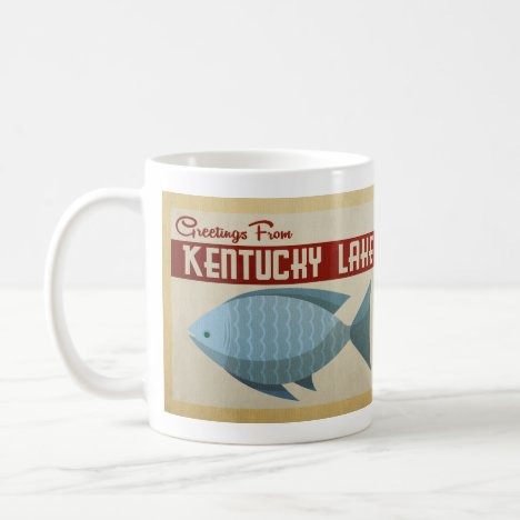 Kentucky Lake Fish Vintage Travel Coffee Mug