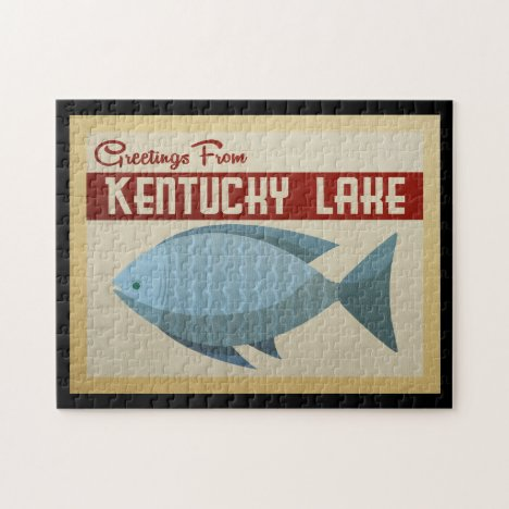 Kentucky Lake Fish Vintage Travel Jigsaw Puzzle