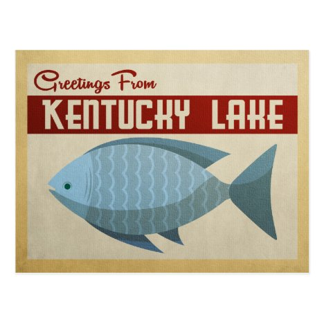 Kentucky Lake Fish Vintage Travel Postcard