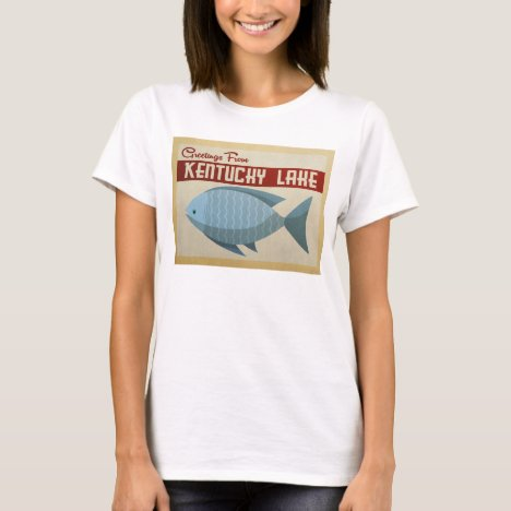 Kentucky Lake Fish Vintage Travel T-Shirt