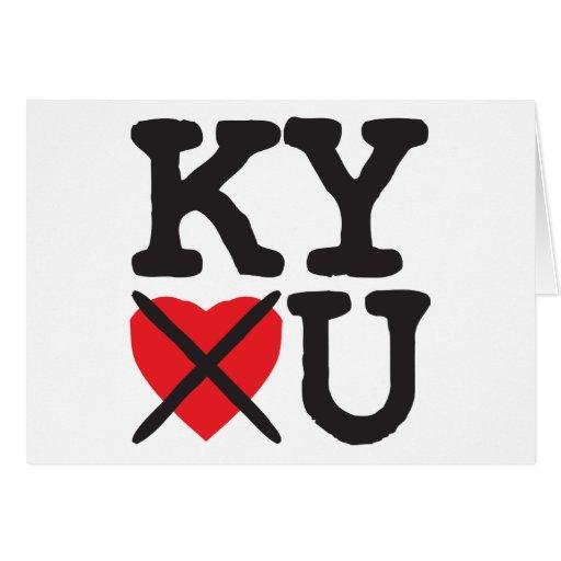 Kentucky le odia tarjeta de felicitación