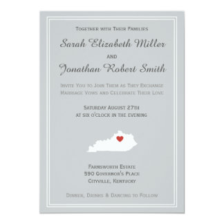 Kentucky Love - Customizable Wedding Invitation