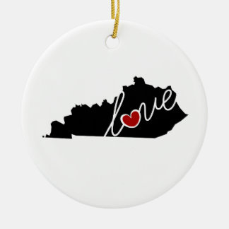 Kentucky Love!  Gifts for KY Lovers Ceramic Ornament