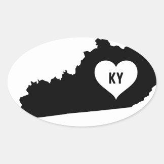 Kentucky Love Oval Sticker