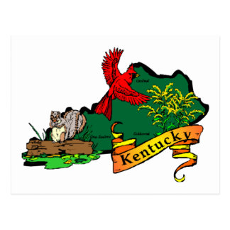 Kentucky map 2 postcard