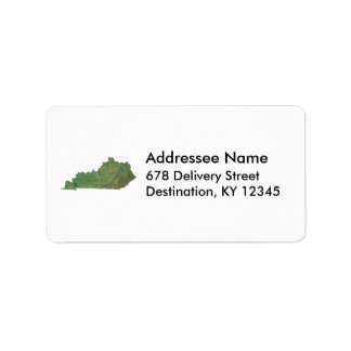 Kentucky Map Address Label