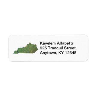 Kentucky Map Address Label
