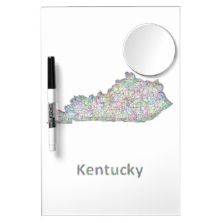 Kentucky map dry erase board with mirror