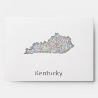 Kentucky map envelope