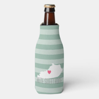 Kentucky Map Home State Love with Custom Heart Bottle Cooler