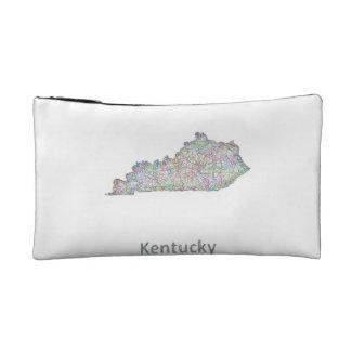 Kentucky map makeup bag