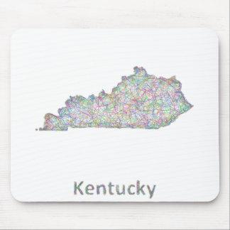 Kentucky map mouse pad