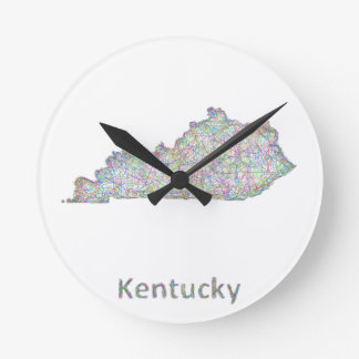 Kentucky map round clock