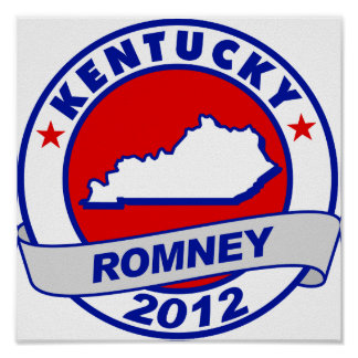 Kentucky Mitt Romney Poster