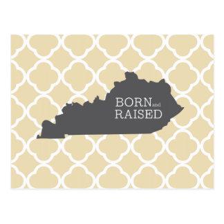Kentucky nacido y aumentado postales