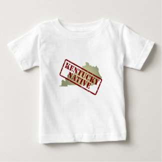 Kentucky Native Stamped on Map Baby T-Shirt